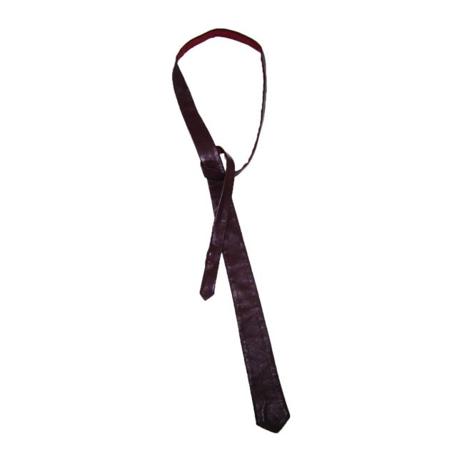 60s Slim Oxblood Leather Tie