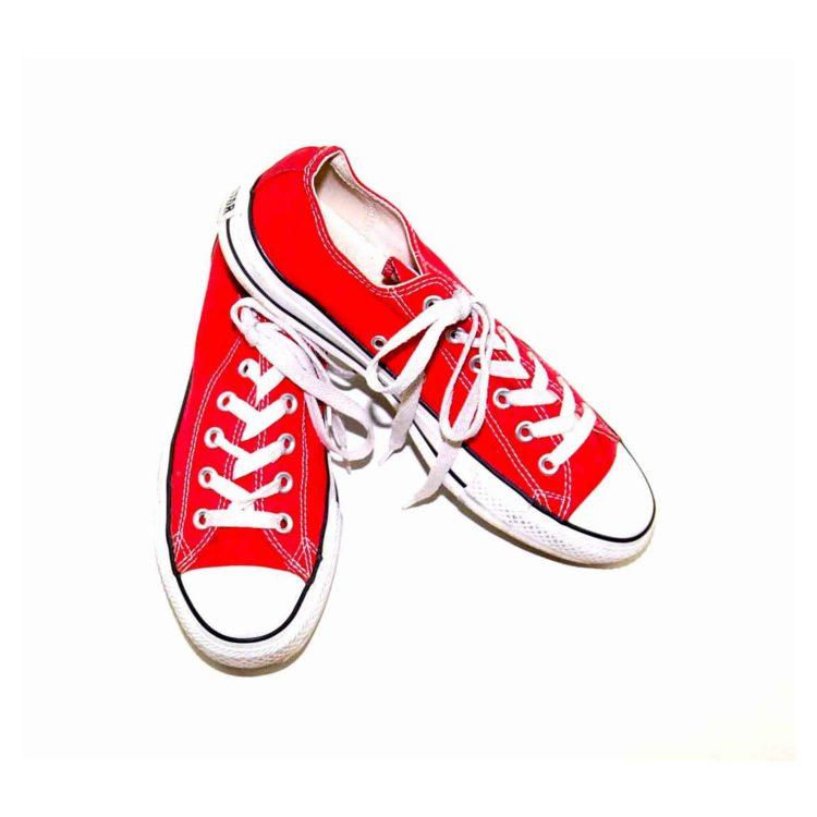 Vintage Red Converse Sneakers