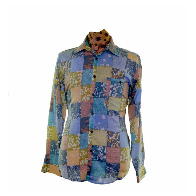 80s Square Patterned Shirt