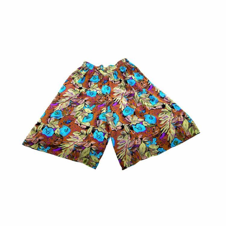 90s Khaki Floral Cropped Culottes