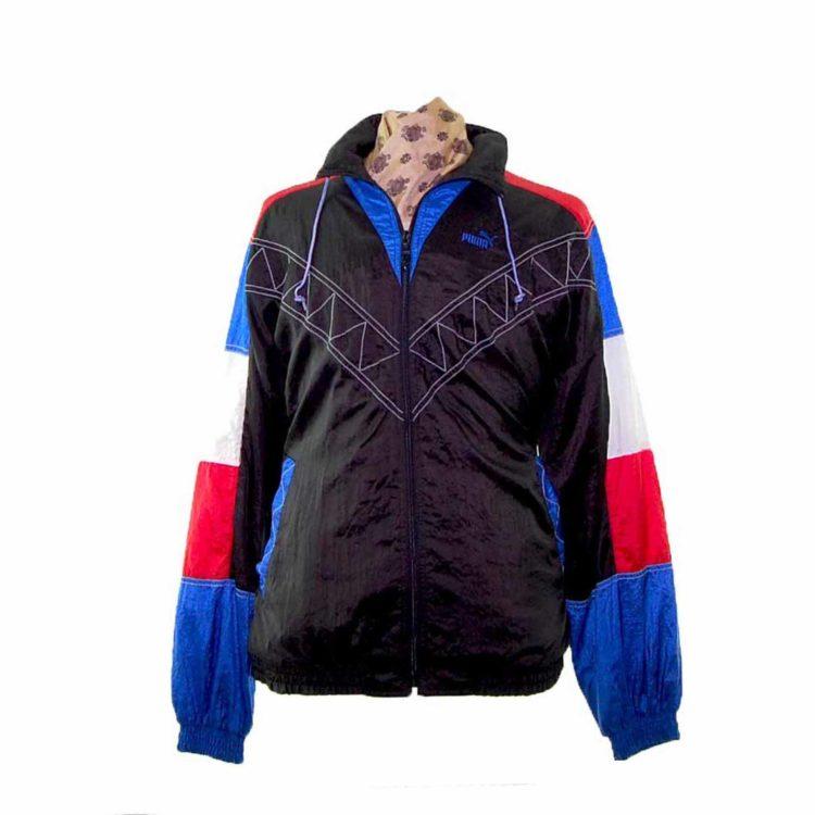 Puma Contrast Stitching Shell Suit Jacket