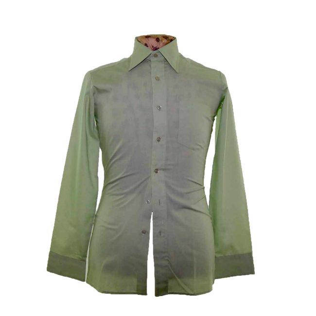 70s Mint Green Long Sleeve Shirt