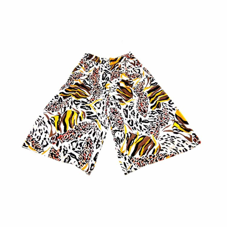 90s Animal Print Cropped Culottes