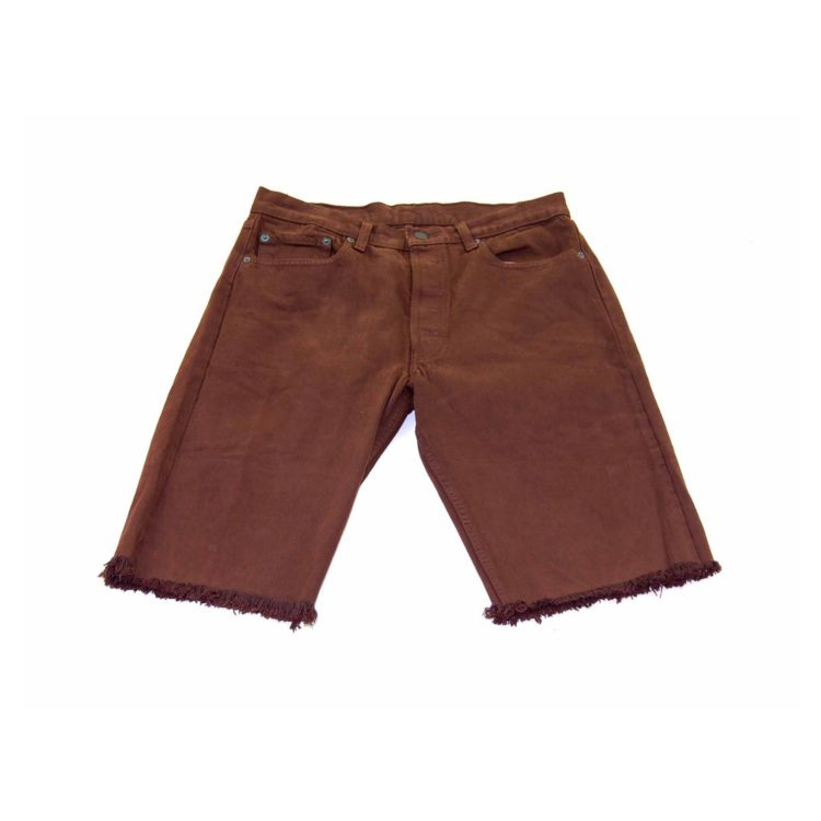 Levis Brown Denim Cropped Shorts