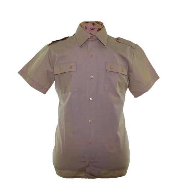 70s Khaki Short Sleeve Shirt