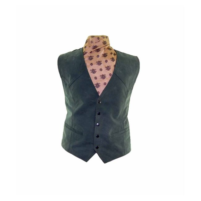Dark Green Suede Waistcoat