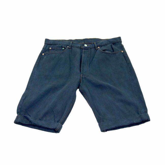 Levis Navy Denim Long Shorts