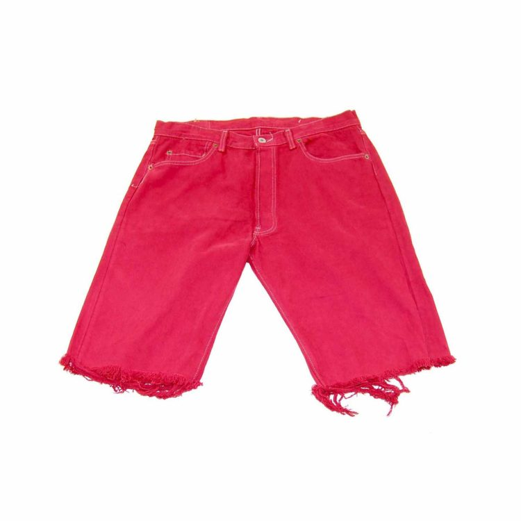 Levis Red Denim Long Shorts