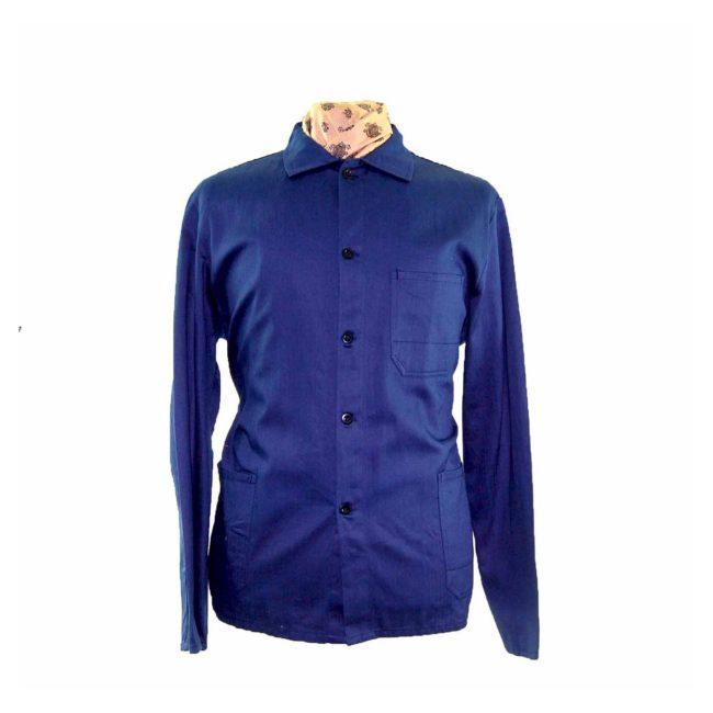 Dark Blue Vintage French Work Jacket
