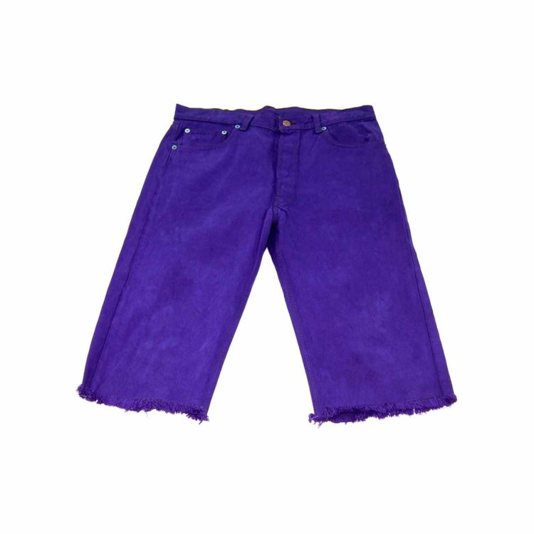 Levis Dark Purple Knee Length Shorts