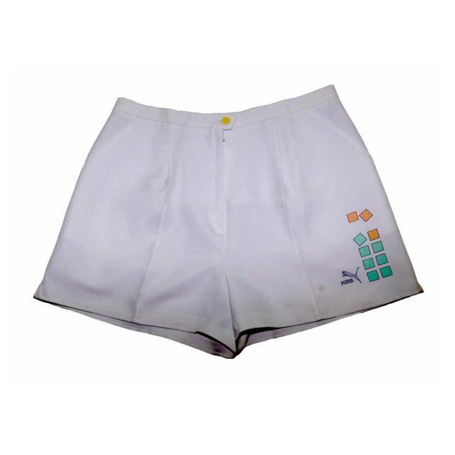 Puma White Printed Casual Shorts