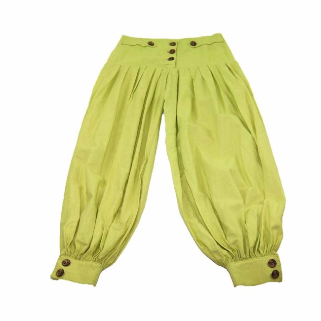 90s Yellow High Rise Harem Pants
