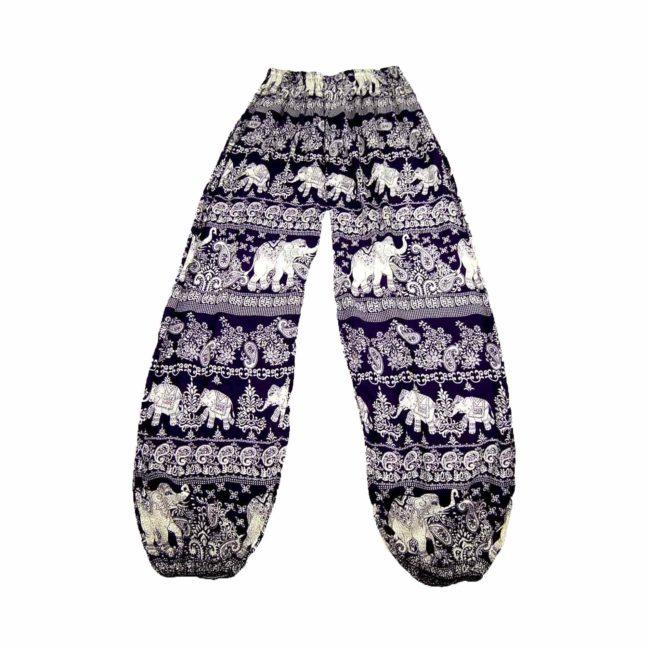 90s Thai Elephant Purple Harem Pants