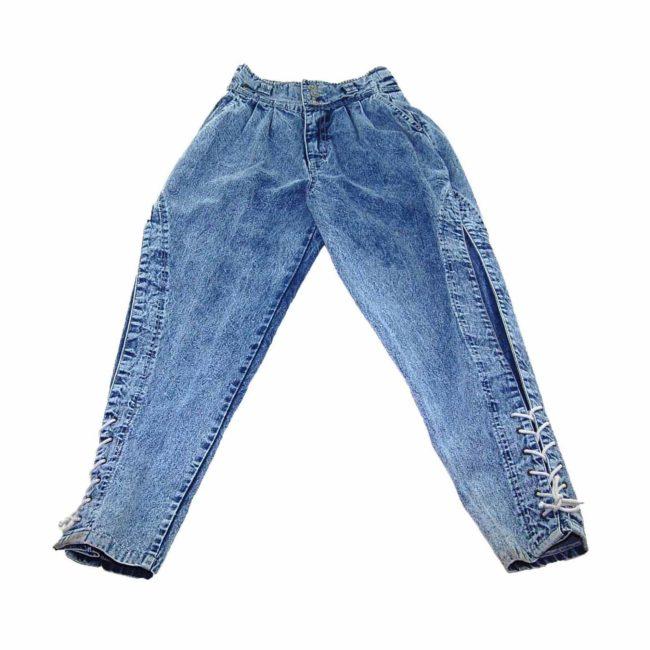 90s Acid Wash Denim High Wasited Jeans