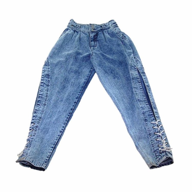 90s Acid Wash Denim High Wasited Jeans