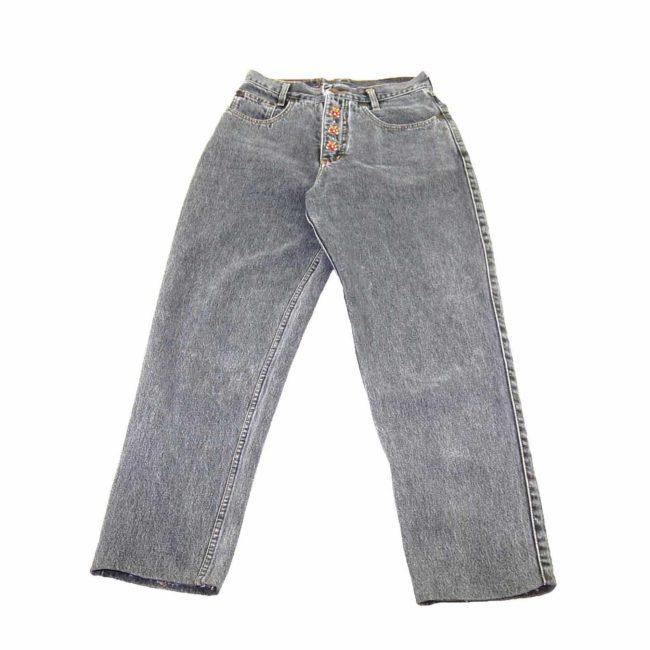 90s Embellished Black Mom Jeans