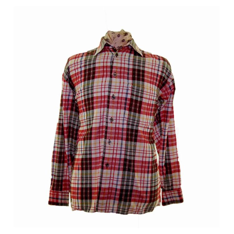90s Red Checked Corduroy Shirt