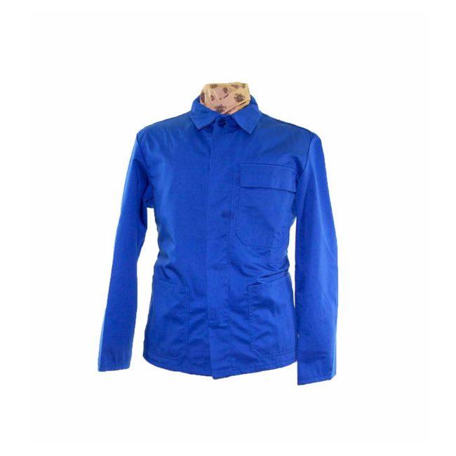 Royal Blue Cotton Work Jacket
