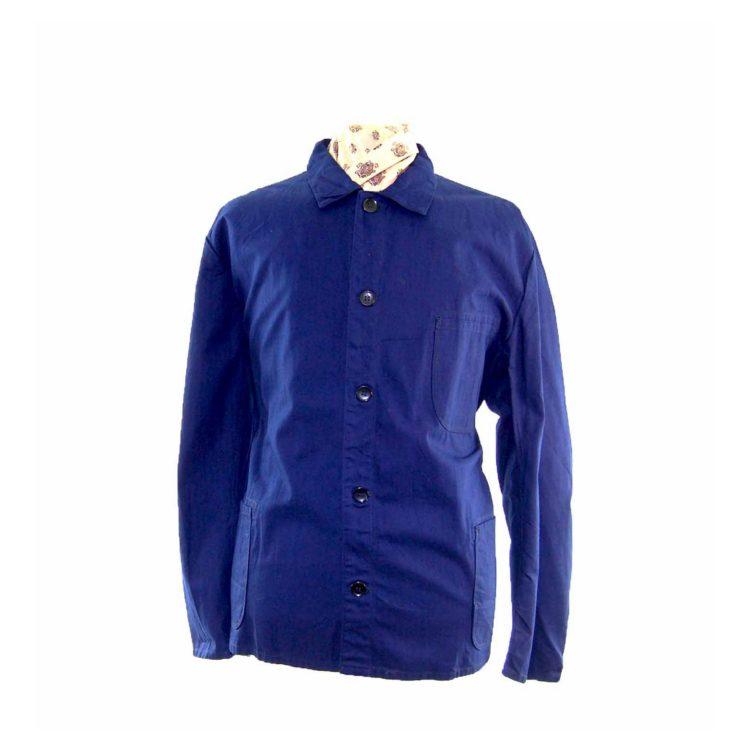 Navy Cotton Work Jacket