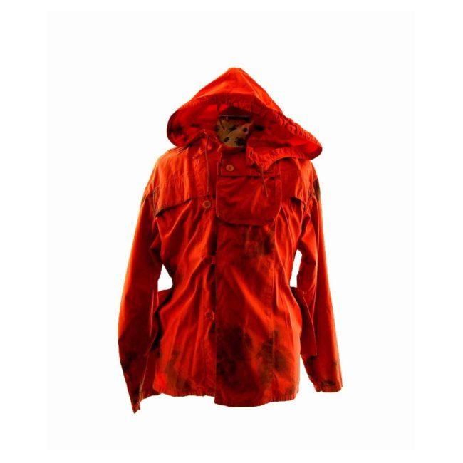 90s Tie Dye Orange Hooded Jacket