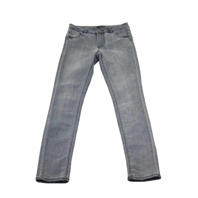 90s Grey Skinny High Waisted Jeans