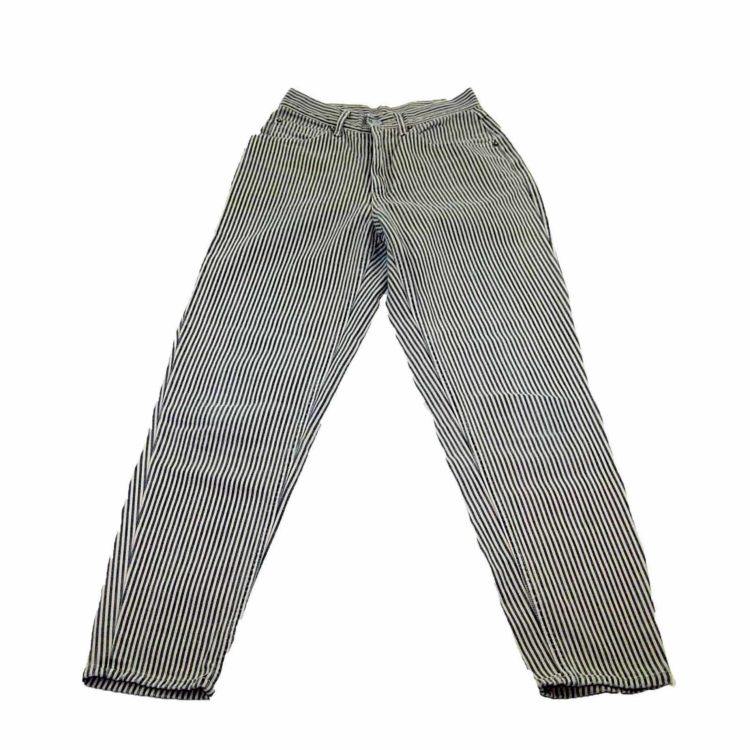 90s Light Blue Striped Mom Jeans
