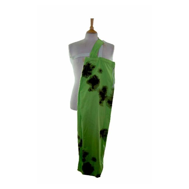 90s Tie Dye Lime Green Military Trousers
