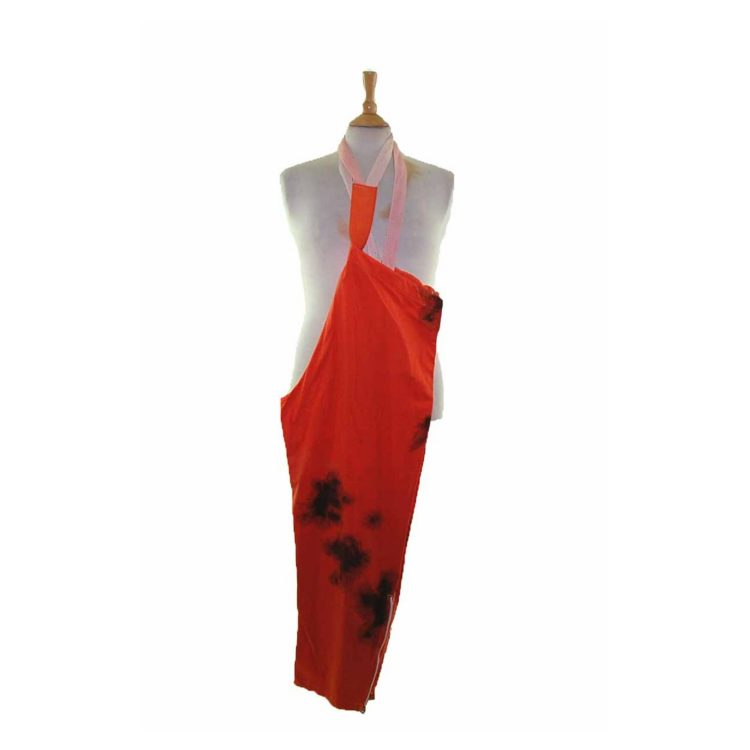 90s Tie Dye Orange Military Trousers