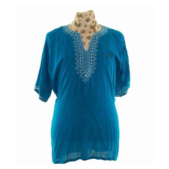 70s Peacock Blue Resort Shirt