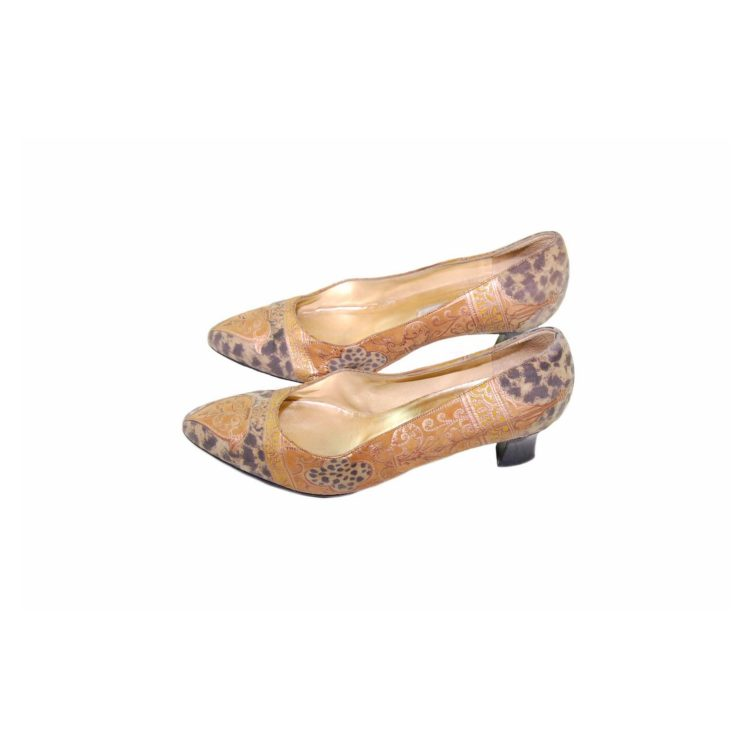 80s Leopard Print Tapestry Pumps