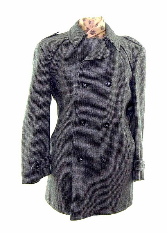Double Breasted Pea Coat Mens