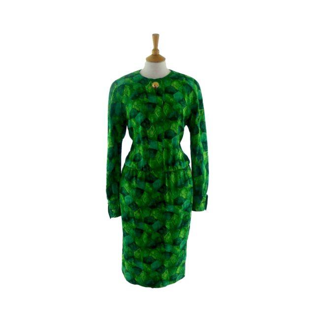 Eye catching Pure Silk 80s Dress