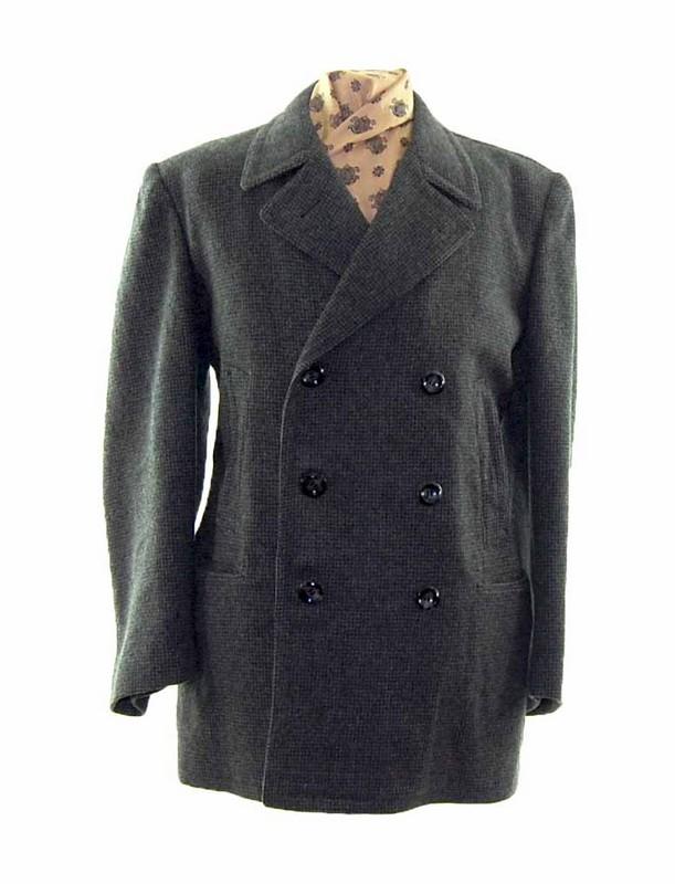 Grey Wool Coat Mens