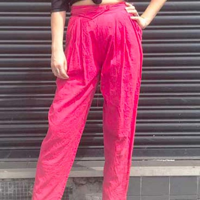 90s Pink High Waist Trousers