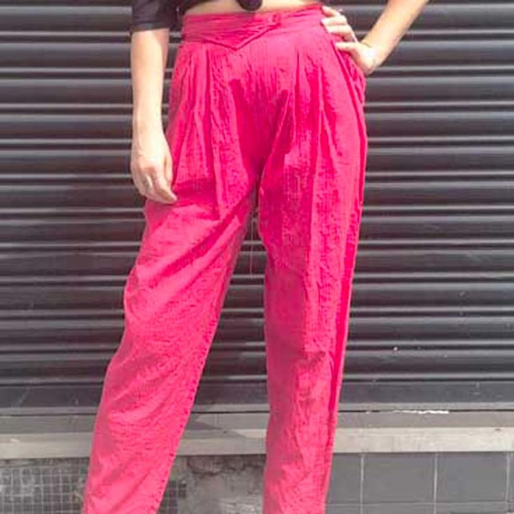 90s Pink High Waist Trousers