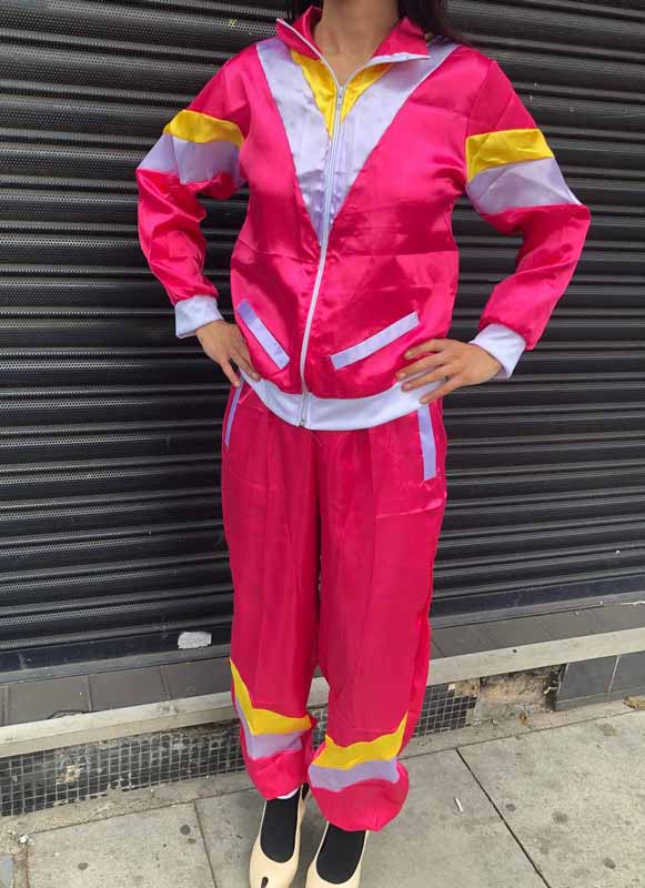 Ladies 80s Pink Scouser Shell Suit