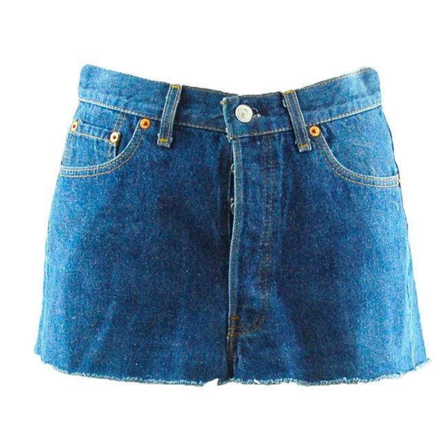 Levis 90s Dark Denim Blue Skirt