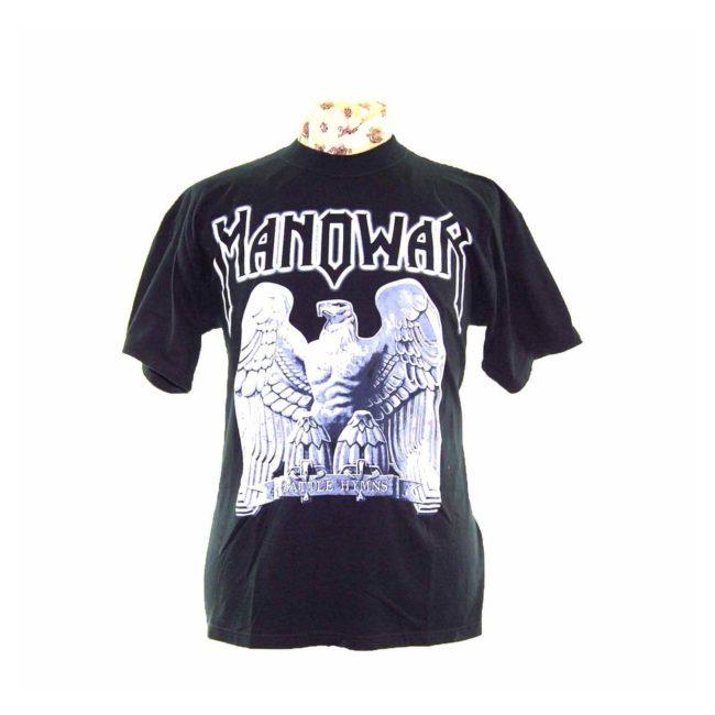 Manowar Battle Hymns Black Rock Tee Shirt