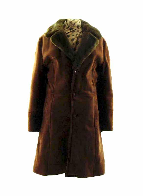 Mens Dark Brown Sheepskin Coat