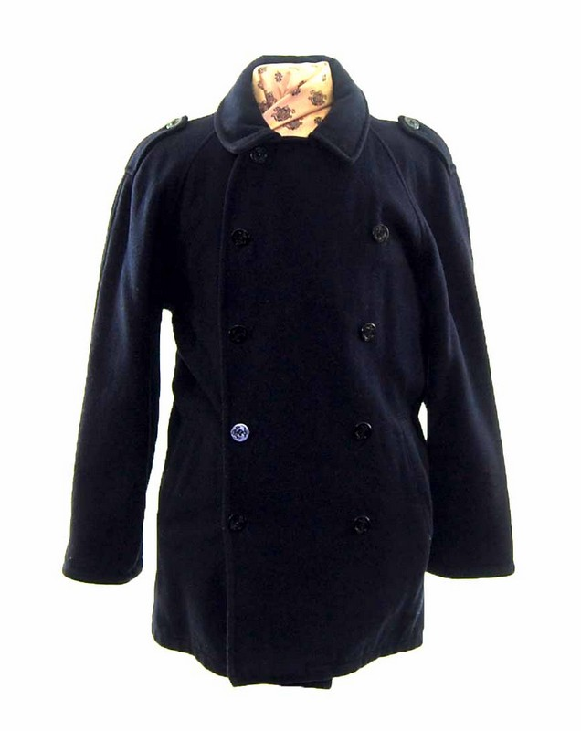Mens Navy Blue Pea Coat