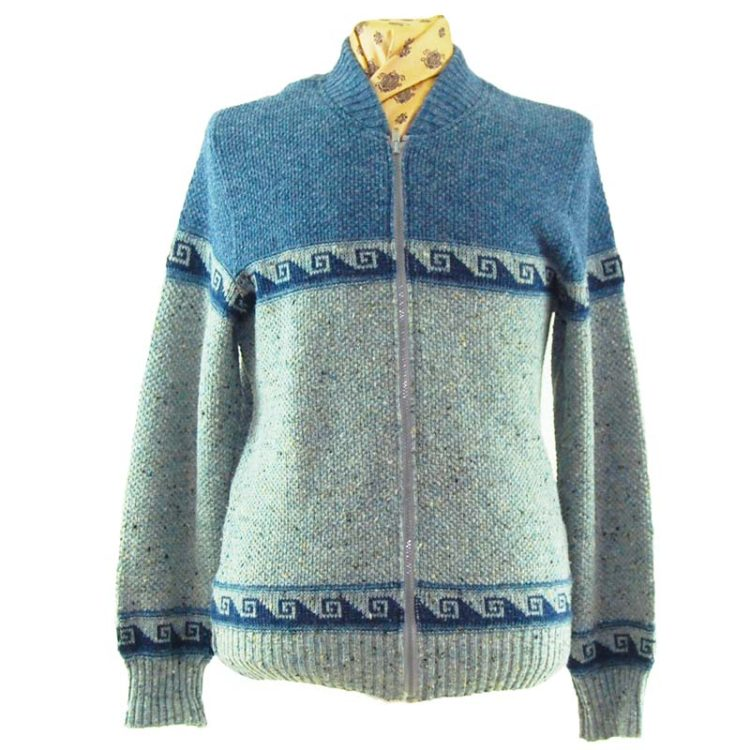 Mens Two Tone Vintage Cardigan