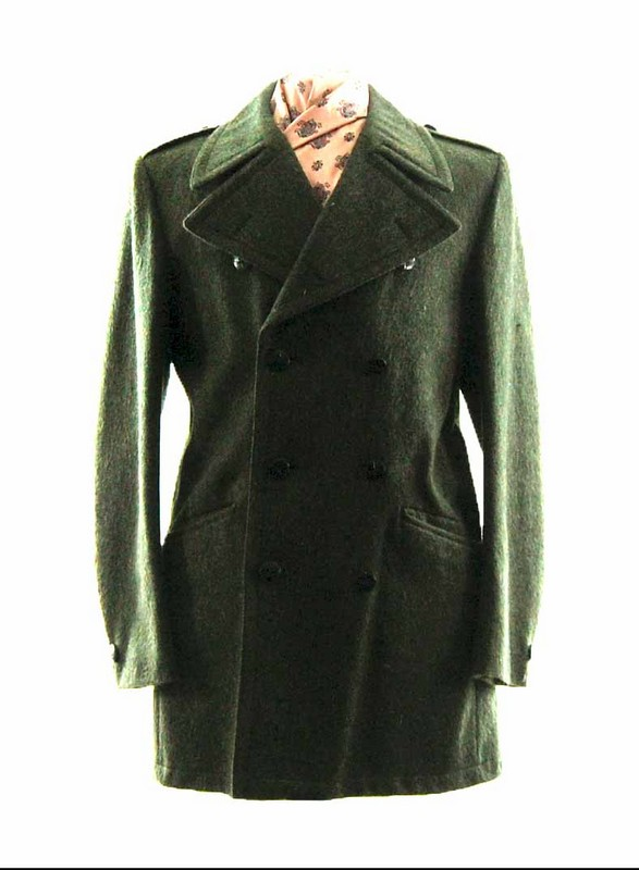 Mens Vintage Wool Pea Coat