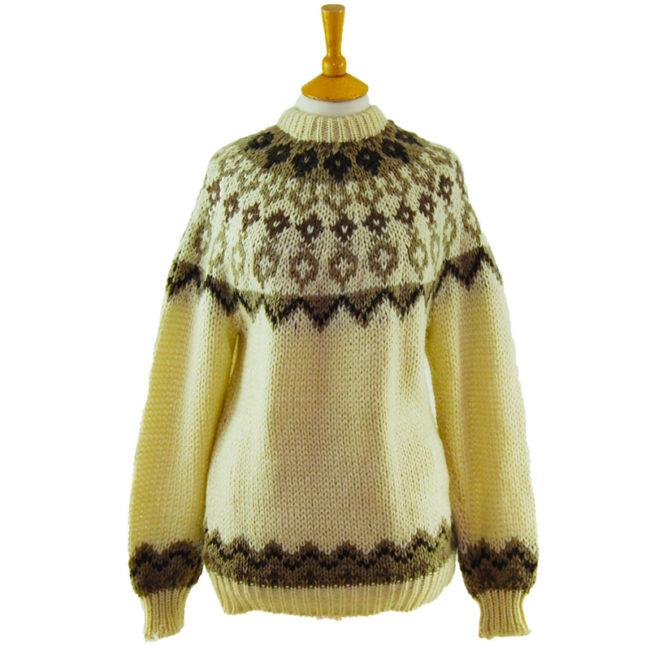 Cream Icelandic Wool Sweater