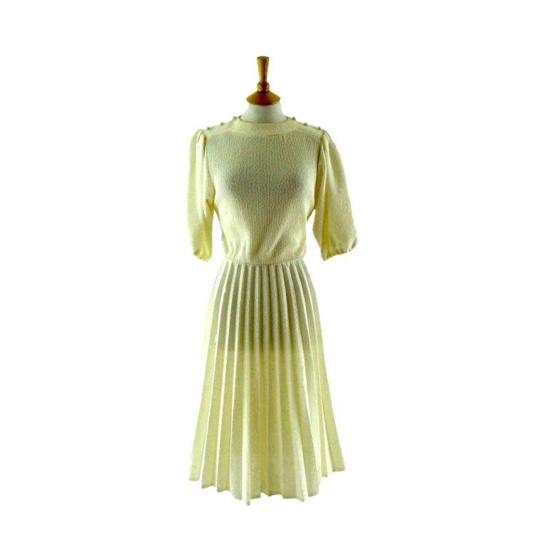 White 1980s vintage dress
