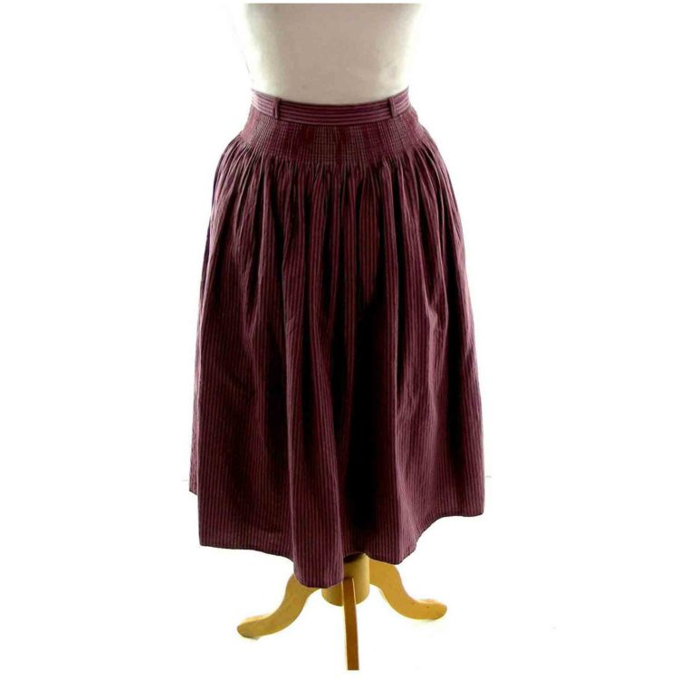 Plum Dirndl Skirt
