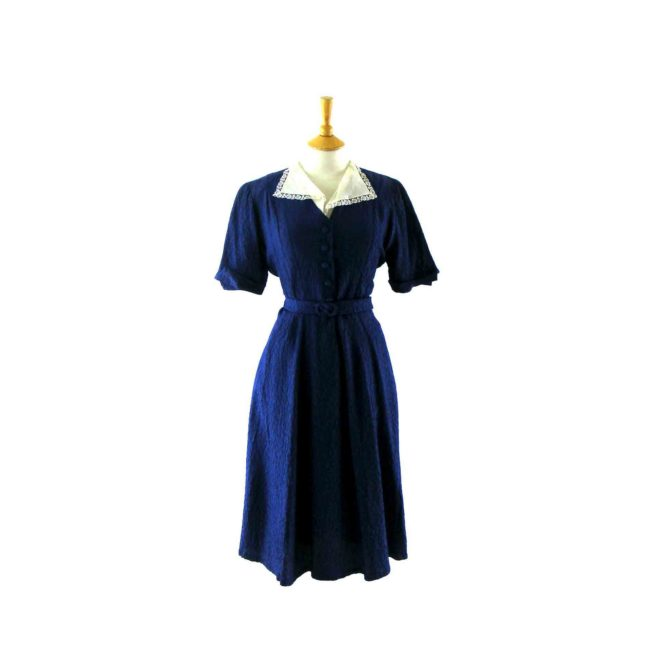 Royal Blue 1940s vintage dress
