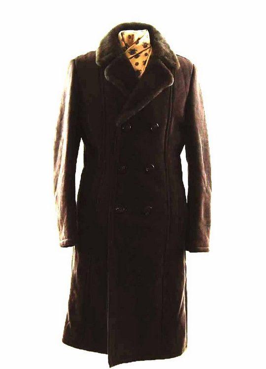 Mens Vintage Sheepskin Coat