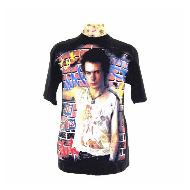 Sid Vicious Print Mens Rock Tee Shirt