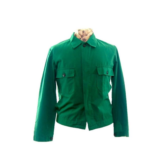 Vibrant Green Work Jacket -