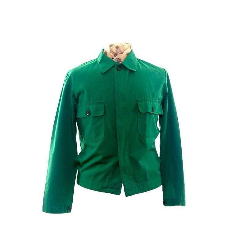 Vibrant Green Work Jacket -